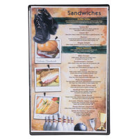 Menu Solutions H500D BLACK Hamilton 8 1/2 inch x 14 inch Single Panel Two View Black Menu Board