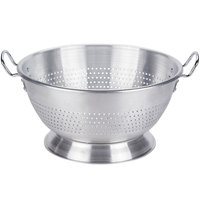 Vollrath 68350 16 Qt. Heavy-Duty Aluminum Colander with Base and Handles