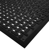 Cactus Mat 2540-C10 VIP Guardian 3' x 10' Black Grease-Proof Anti-Fatigue Floor Mat - 1/4 inch Thick