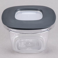 Rubbermaid 1951293 2 Cup Clear Square Premier Storage Container with Lid