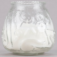 Sterno 40122 4 1/8 inch Clear Venetian Candle - 12/Pack