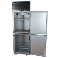 Beverage-Air HFS1HC-1HS Horizon Series 26 inch Solid Half Door Reach-In Freezer with Stainless Steel Interior