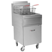 Vulcan 1GR65M-1 65-70 lb. Natural Gas Floor Fryer - 150,000 BTU