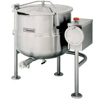 Cleveland KDL-25-T 25 Gallon Tilting 2/3 Steam Jacketed Direct Steam Kettle