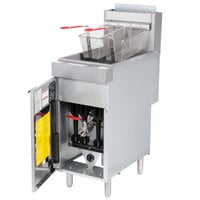 Vulcan LG400-1 45-50 lb. Natural Gas Floor Fryer - 120,000 BTU