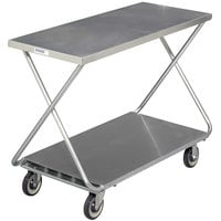 Channel STKG400 Chrome Plated Steel Stocking Truck with Solid Bottom Shelf - 46 inch x 19 inch
