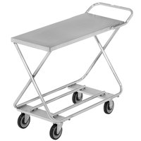 Channel STKG300H Chrome Plated Steel Stocking Truck with Tubular Bottom Shelf and Handle - 46 inch x 20 inch