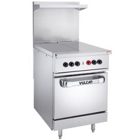 Vulcan EV24S-2HT2403 Endurance Series 24 inch Electric Range with 2 Hot Tops and Oven Base - 240V, 15 kW