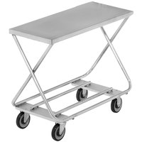 Channel STKG300 Chrome Plated Steel Stocking Truck with Tubular Bottom Shelf - 46 inch x 20 inch
