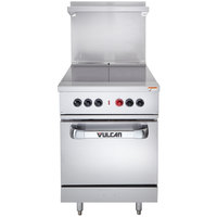 Vulcan EV24S-2HT4803 Endurance Series 24 inch Electric Range with 2 Hot Tops and Oven Base - 480V, 15 kW
