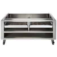 Vulcan SMOKER-VCCB47 Achiever Series 46 3/4 inch Wood Assist Stand with Two Wood Trays