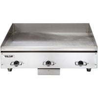 Vulcan HEG36E 36 inch Electric Countertop Griddle with Snap-Action Thermostatic Controls - 240V, 3 Phase, 16.2 kW