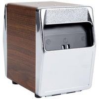 Vollrath 6509-12 Two Sided Tabletop Lowfold Napkin Dispenser - Walnut