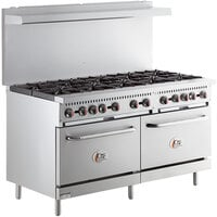 Cooking Performance Group S60-L Liquid Propane 10 Burner 60 inch Range with 2 Standard Ovens - 360,000 BTU