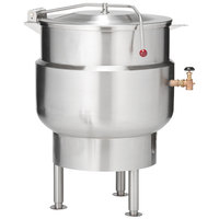 Vulcan K20DL Direct Steam 20 Gallon Stationary 2/3 Steam Jacketed Kettle