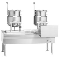 Vulcan VKT64/666 64 inch Table with (3) 6 Gallon Direct Steam Tilting Kettles