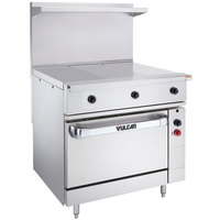 Vulcan EV36S-3HT240 Endurance Series 36 inch Electric Range with 3 Hot Tops and Oven Base - 240V, 20 kW
