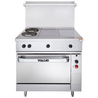Vulcan EV36S-2FP2HT240 Endurance Series 36 inch Electric Range with 2 French Plates, 2 Hot Tops, and 1 Standard Oven - 240V
