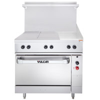 Vulcan EV36S-2HT12G240 Endurance Series 36 inch Electric Range with 2 Hot Tops, 12 inch Griddle, and Standard Oven - 240V