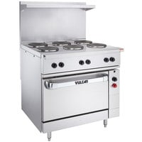 Vulcan EV36S-6FP240 Endurance Series 36 inch Electric Range with 6 French Plates and Oven Base - 240V, 17 kW