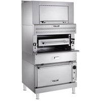 Vulcan VBB1CF-LP Liquid Propane Upright Ceramic Broiler with Convection Oven Base and Finishing Oven - 132,500 BTU