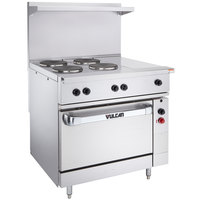 Vulcan EV36-S-4FP-1HT-208 Endurance Series 36 inch Electric Range with 4 French Plates, 1 Hot Top, and 1 Standard Oven - 208V