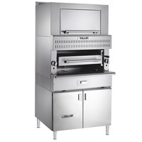 Vulcan VIR1BF-NAT Natural Gas Upright Infrared Broiler with Cabinet Base and Finishing Oven - 100,000 BTU