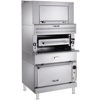 Vulcan VIR1CF-LP Liquid Propane Upright Infrared Broiler with Convection Oven Base and Finishing Oven - 132,000 BTU