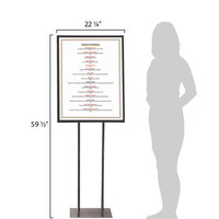 Aarco PHSIB 22 1/4 inch x 59 1/2 inch Black Double Sided Freestanding Poster / Sign Holder