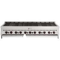 Wolf SCB60-NAT Natural Gas Low Profile 60 inch Radiant Gas Charbroiler - 159,500 BTU