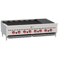 Wolf SCB47-NAT Natural Gas Low Profile 47 inch Radiant Gas Charbroiler - 116,000 BTU