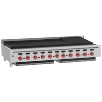 Wolf ACB60-LP Liquid Propane Low Profile 60 inch Medium-Duty Radiant Gas Countertop Charbroiler - 176,000 BTU