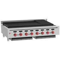 Wolf ACB47-NAT Natural Gas Low Profile 47 inch Medium-Duty Radiant Gas Countertop Charbroiler - 136,000 BTU