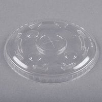 Dart Conex M640S Clear Plastic Lid with Straw Slot - 100/Pack