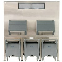 Follett ITS1700SG-90 ITS Series 90 inch Ice Storage and Transport System with 3 Transport Carts - 1716 lb.