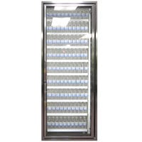 Styleline CL2472-HH 20//20 Plus 24 inch x 72 inch Walk-In Cooler Merchandiser Door with Shelving - Anodized Bright Silver, Right Hinge