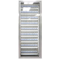 Styleline CL2472-HH 20//20 Plus 24 inch x 72 inch Walk-In Cooler Merchandiser Door with Shelving - Anodized Satin Silver, Right Hinge