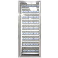 Styleline CL2472-HH 20//20 Plus 24 inch x 72 inch Walk-In Cooler Merchandiser Door with Shelving - Anodized Satin Silver, Left Hinge