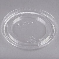 Solo 626TP Clear Flat Non-Vented Lid - 100/Pack