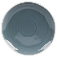 Arcoroc FJ725 Canyon Ridge 8 inch Blue Porcelain Plate by Arc Cardinal - 36/Case