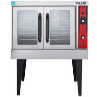 Vulcan VC4GD-2 1D150K Liquid Propane Single Deck Full Size Gas Convection Oven with Solid State Controls and Legs - 50,000 BTU