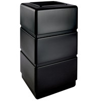 Commercial Zone 732401 PolyTec Series Black 38 Gallon Three-Tier Trash Can