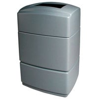Commercial Zone 770735 PolyTec Series Shell Silver 40 Gallon Rectangular Trash Can