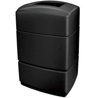Commercial Zone 733101 PolyTec Series Black 40 Gallon Rectangular Trash Can