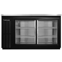 Continental Refrigerator BB50NSGD 50 inch Black Sliding Glass Door Back Bar Refrigerator