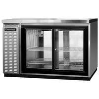 Continental Refrigerator BB50NSSGDPT 50 inch Stainless Steel Pass-Through Glass Door Back Bar Refrigerator