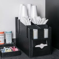 Vollrath CTNCLS-06 Countertop Napkin, Cup, Lid, and Wrapped Straw Dispenser / Organizer