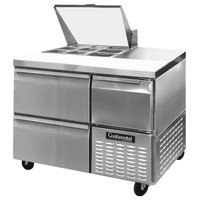 Continental Refrigerator CRA43-9M-D 43 inch 2 Drawer 1 Half Door Mighty Top Refrigerated Sandwich Prep Table
