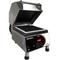 Nemco 6900A-GG PaniniPro Single High-Speed Panini Press with Grooved Top and Bottom Plates - 10 1/2 inch x 10 1/2 inch Cooking Surface - 240V, 5760W