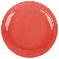 Syracuse China 903034002 Cantina 11 1/4 inch Cayenne Carved Porcelain Round Plate - 12/Case